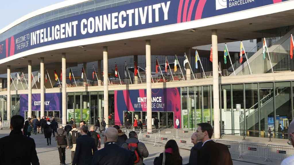Una de las entradas del Mobile World Congress de Barcelona.