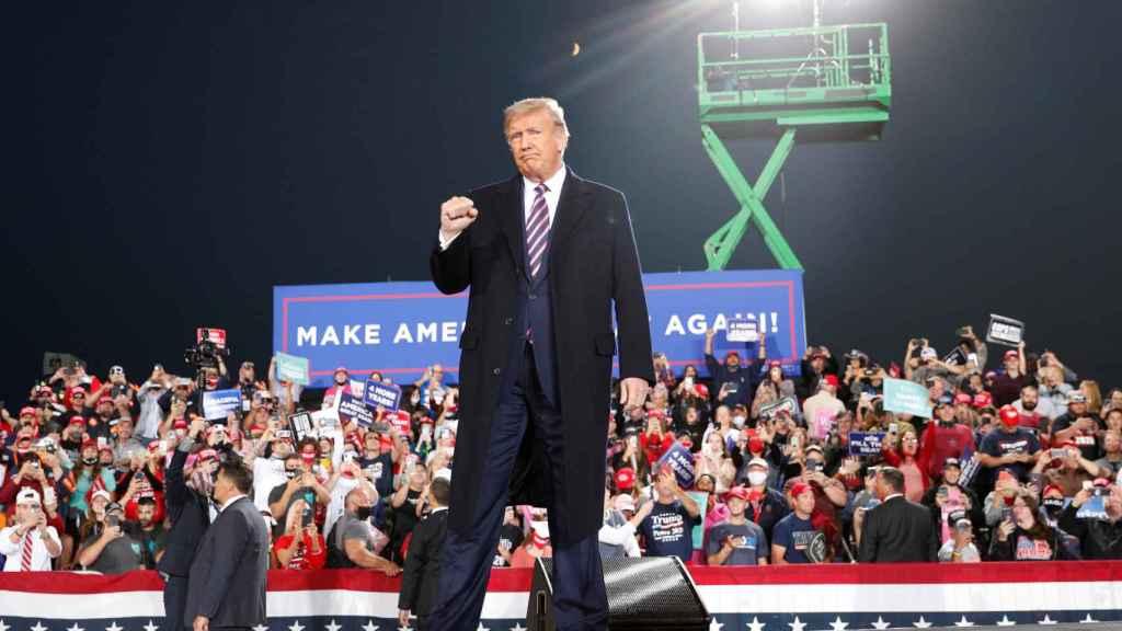 El presidente de Estados Unidos, Donald Trump, en un mitin en Pensilvania.