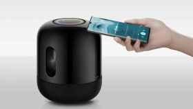 El Huawei Sound X reproduce música de nuestro móvil sólo con pasarlo por encima
