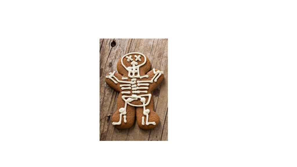 Galletas de jengibre esqueletos