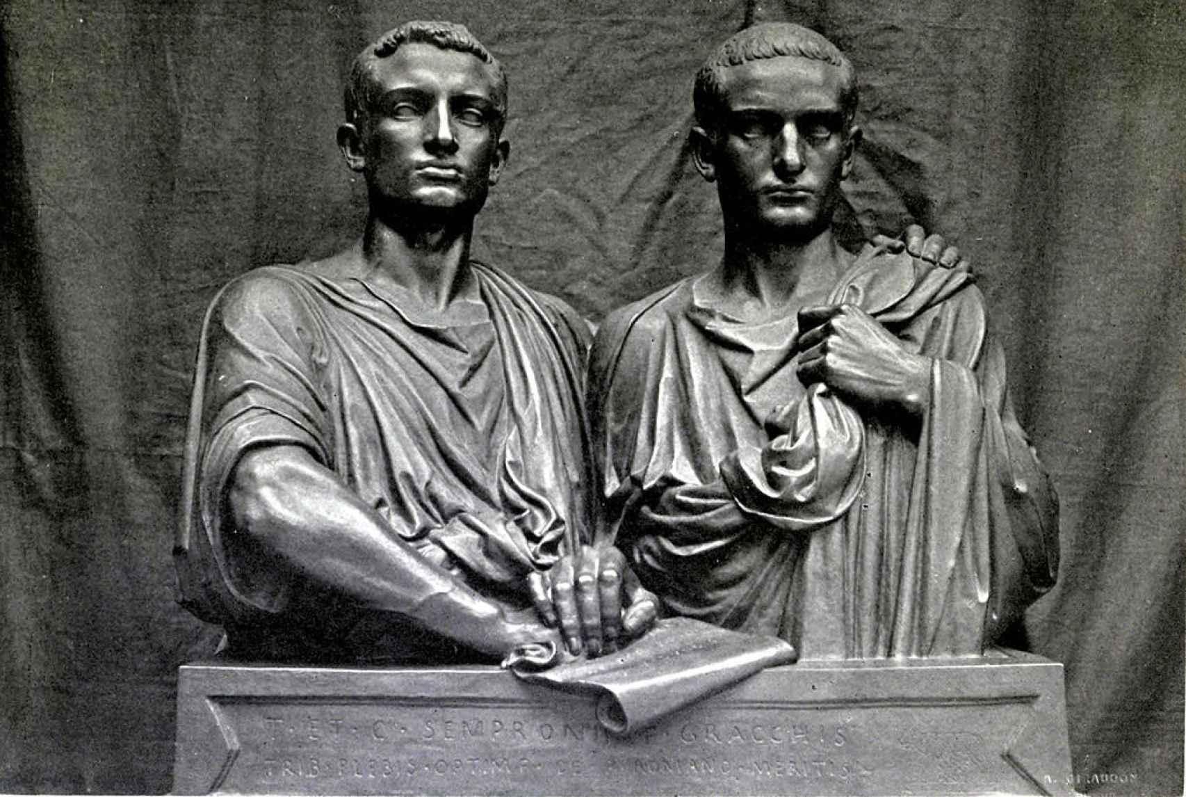 Los hermanos Graco, en una escultura expuesta en el Museo de Orsay.