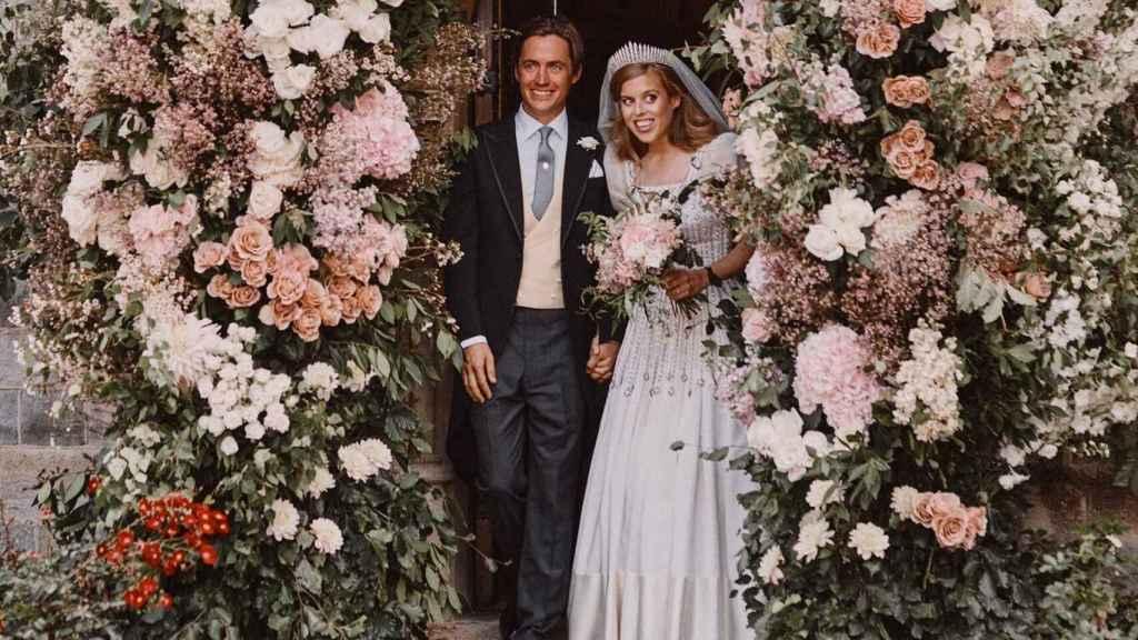 Edoardo Mapelli y Beatriz de York, el día de su boda.