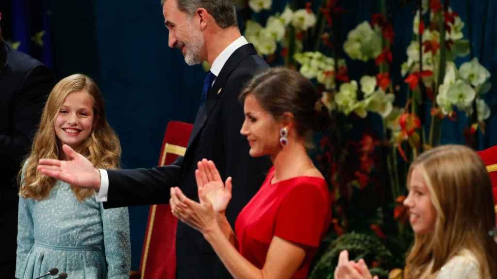 La Familia Real en los Premios Princesa de Asturias 2019.