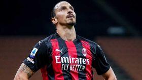 Zlatan Ibrahimovic en un partido con el AC Milan