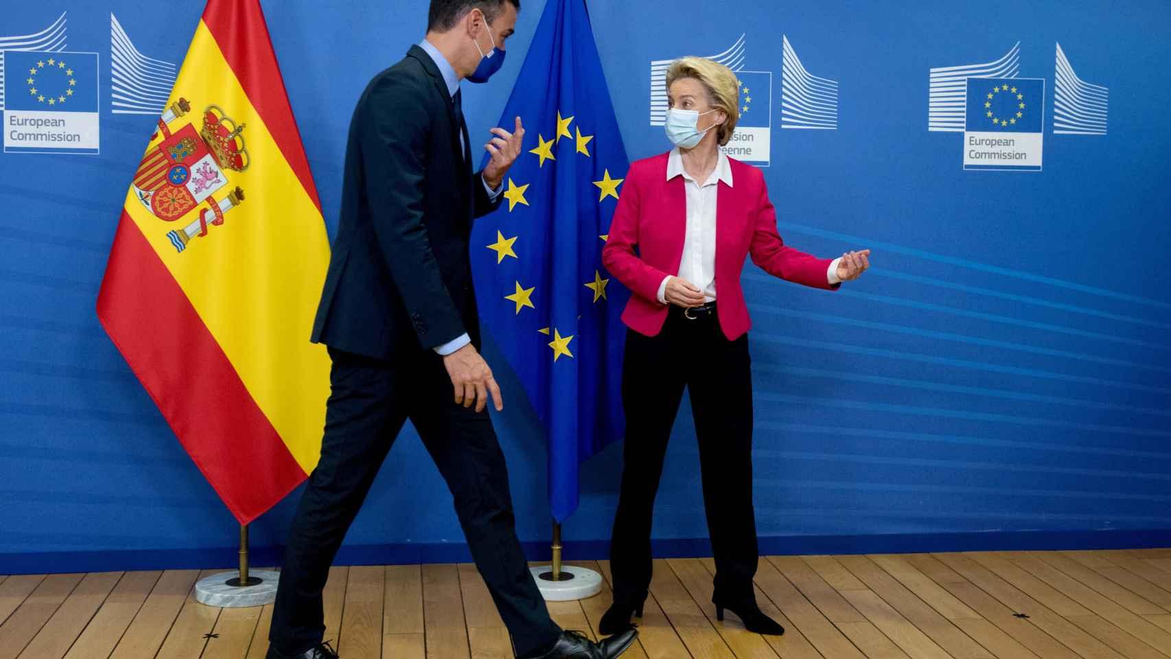 Pedro Sánchez y Ursula von der Leyen, durante su reunión del 23 de septiembre en Bruselas