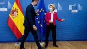 Pedro Sánchez y Ursula von der Leyen, durante su reunión de este miércoles en Bruselas