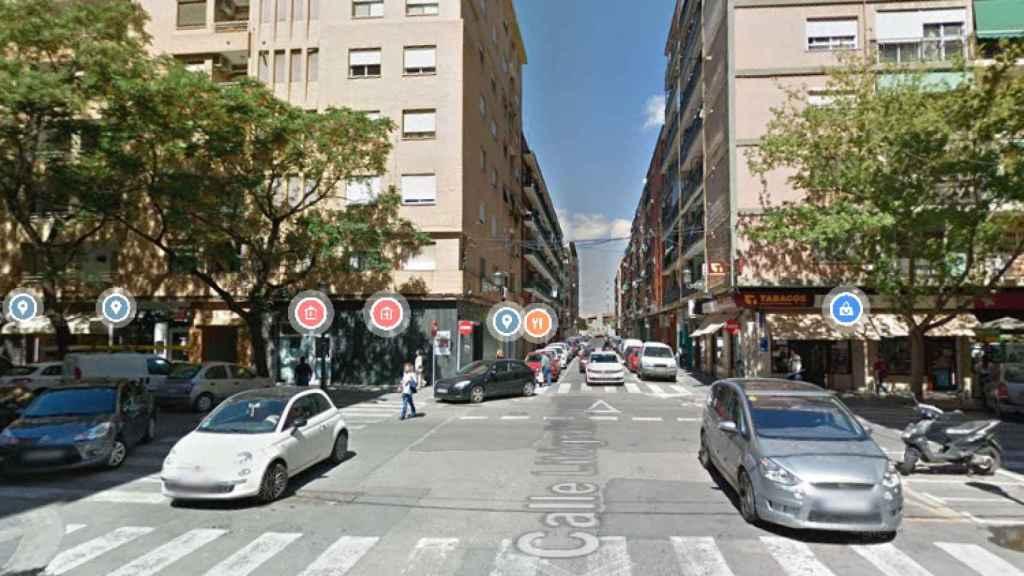 La calle Valencia donde se produjo el asesinato.