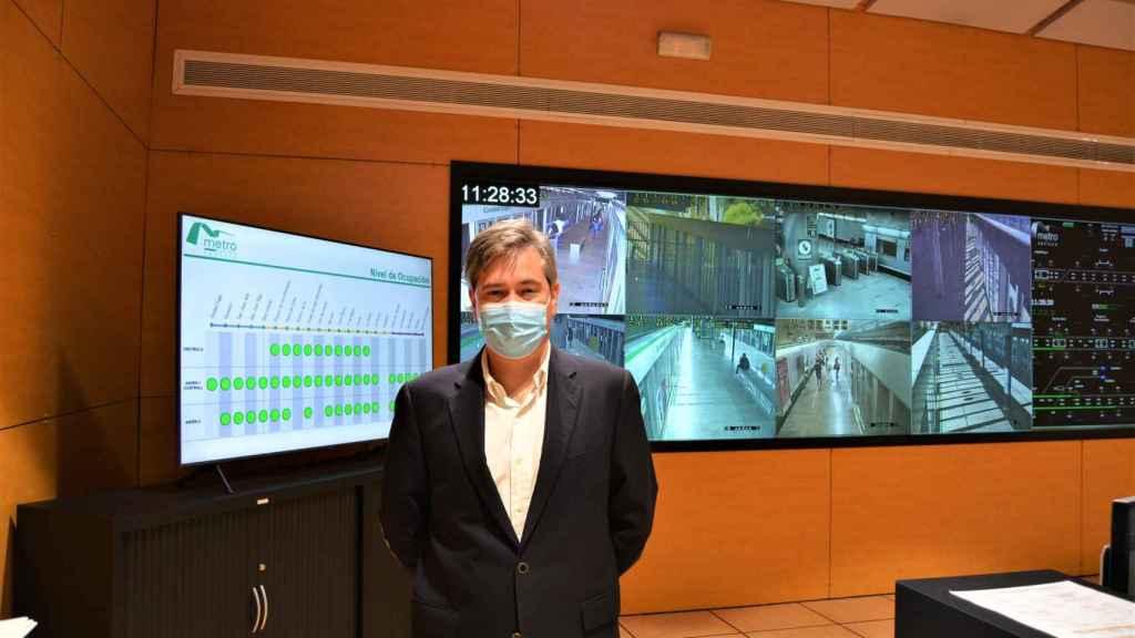 El director gerente de Metro de Sevilla, Jorge Maroto, en su entrevista con Invertia.