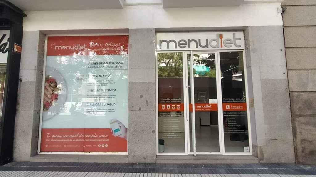La sede física de Menudiet en Madrid, situada en el número 94 de la calle Alcalá.