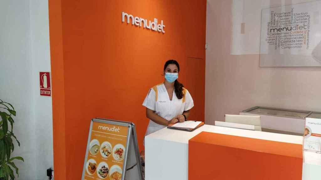 Cristina, la nutricionista que me atendió en la sede física de Menudiet en Madrid.