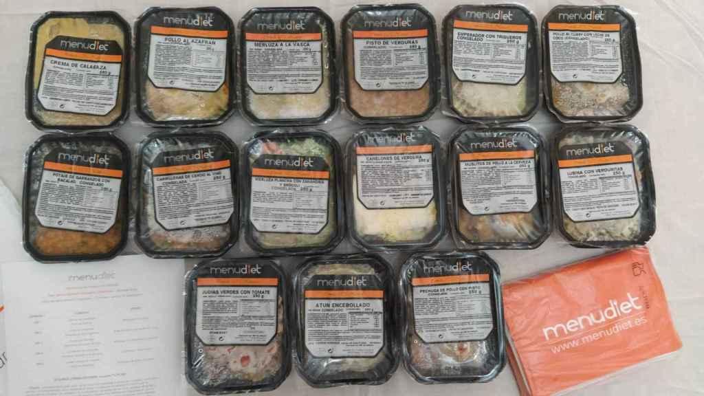 Los 15 'tuppers' del menú que elaboró Cynthia para mi semana con Menudiet.