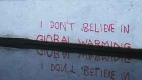 I don't believe in global warming (Banksy, 2009).