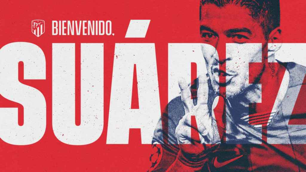 Luis Suárez ya es nuevo jugador del Atlético de Madrid
