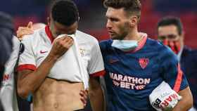 En-Nesyri llora desconsolado tras la final de la Supercopa de Europa