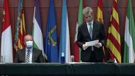 Carlos Lesmes, durante su discurso junto al ministro de Justicia, Juan Carlos Campo.
