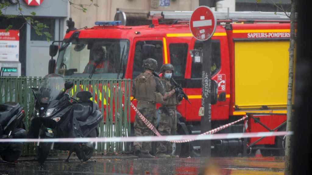 Dispositivo policial tras el ataque a la revista satírica 'Charlie Hebdo'.