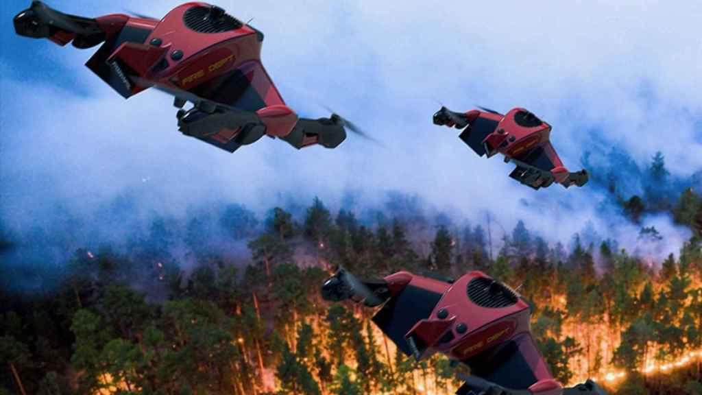 Un enjambre de drones de bomberos Recruit