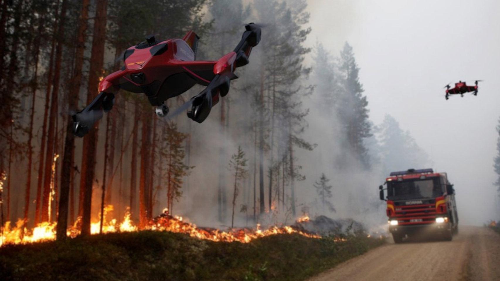 Dron de bomberos