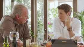 Bertín Osborne y Albert Rivera, durante la charla para 'Mi casa es la tuya' (Telecinco)