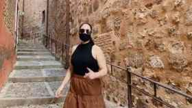 Rosa López en una imagen del vídeo realizado por Toledo