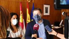 Nacho Hernando, consejero de Fomento, en su visita este sábado a Talavera