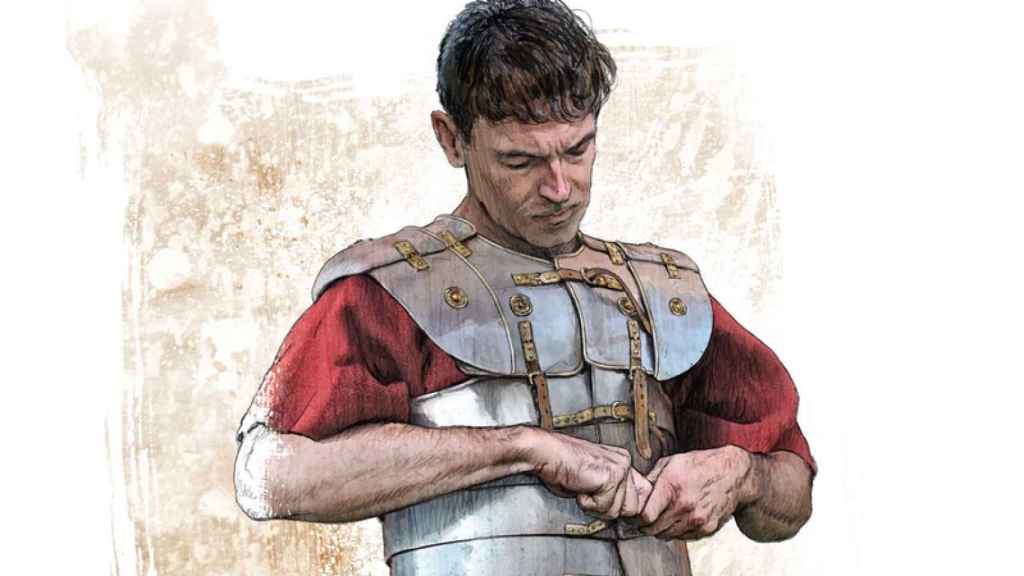Reconstrucción de la armadura de un legionario romano.