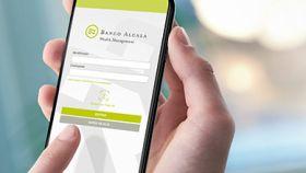 Aplicación móvil de Banco Alcalá.