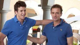 Alessandro Lequio junto a su hijo, el día que Álex cumplió 18 años.
