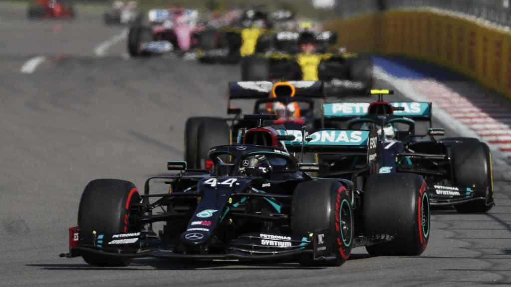 Bottas durant el GP de Rusia de Fórmula 1