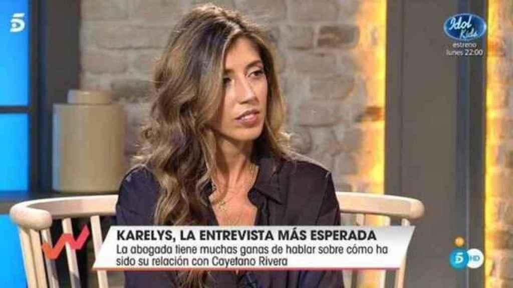 Karelys Rodríguez en su primera entrevista en televisión.