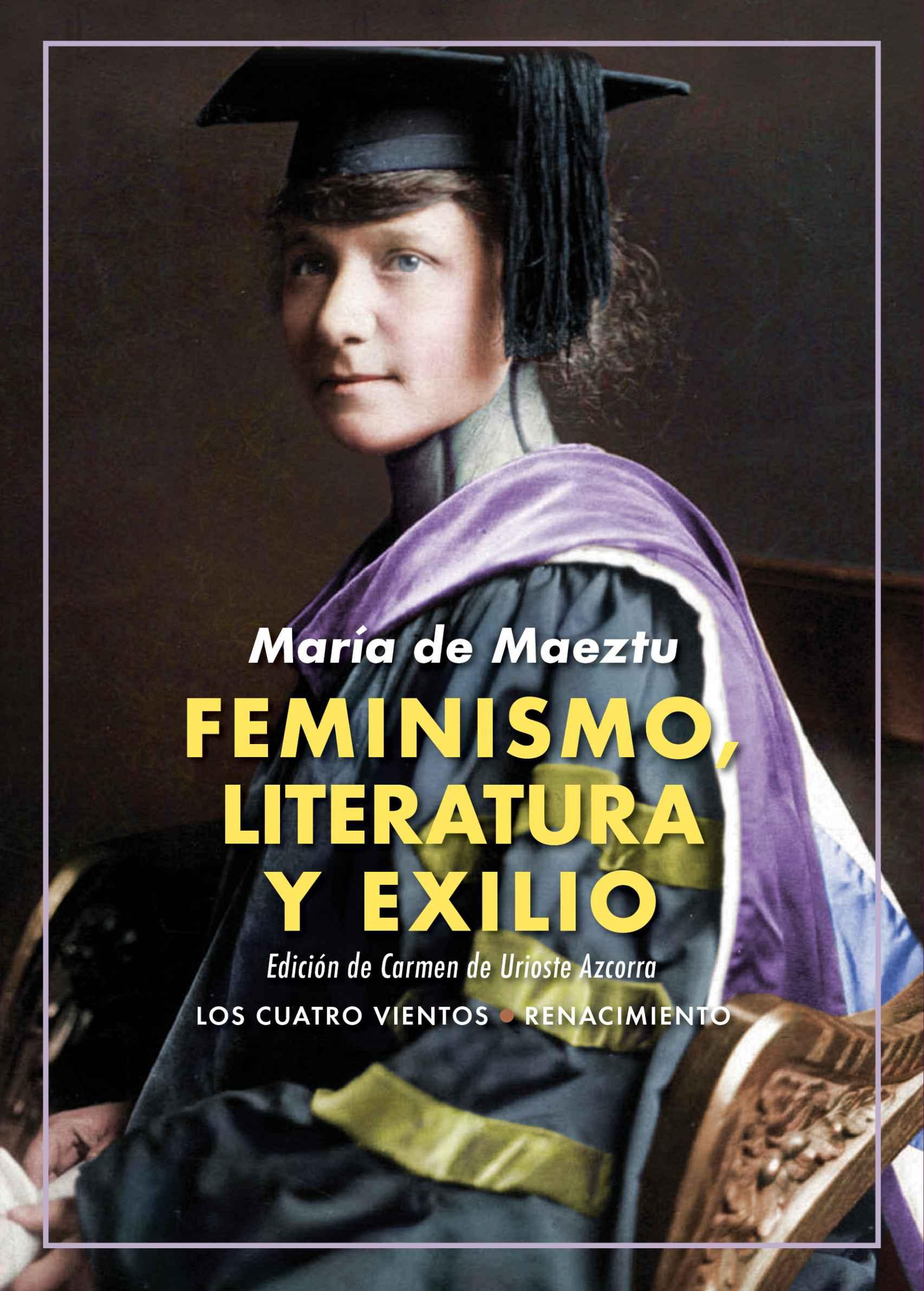 Portada de 'Feminismo, literatura y exilio'.