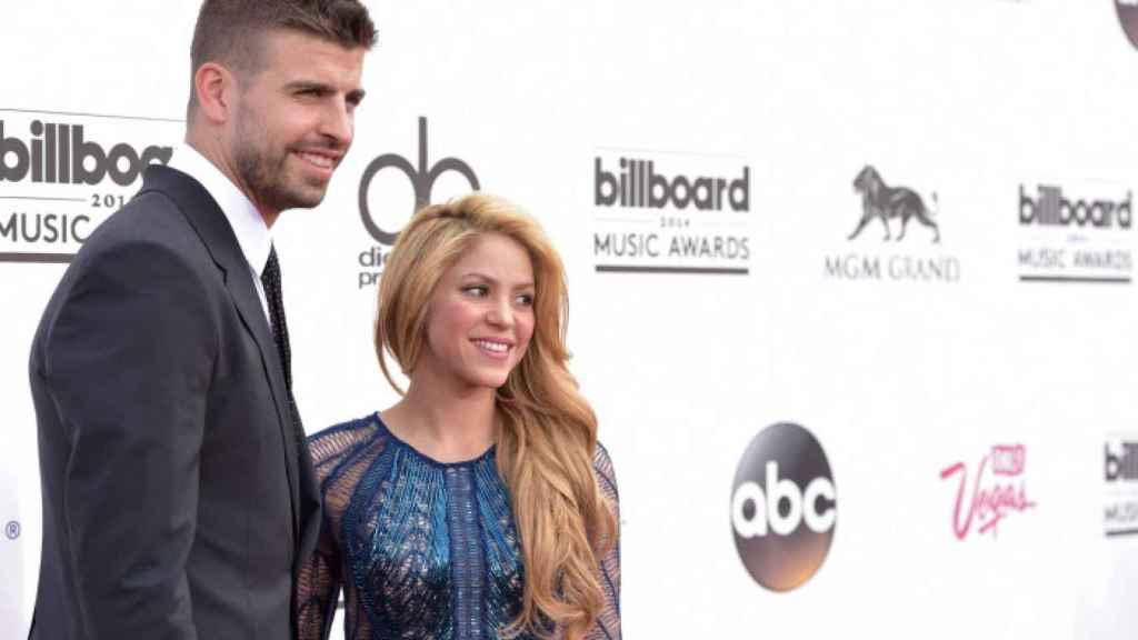 Shakira y Piqué, en los premios Billboard 2014.