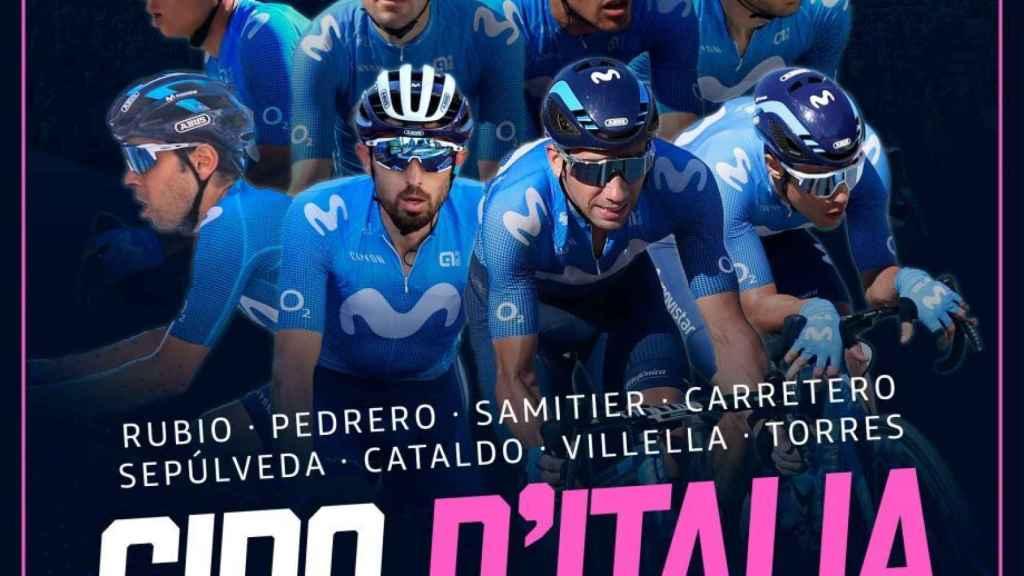 El ocho del Movistar Team para el Giro de Italia