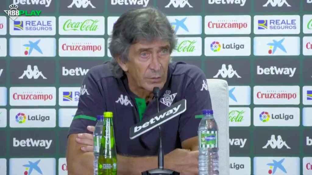Manuel Pellegrini en rueda de prensa
