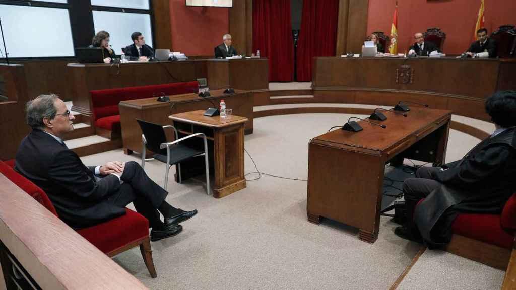 Imagen del juicio a Torra en el Tribunal Superior catalán, en noviembre de 2019./
