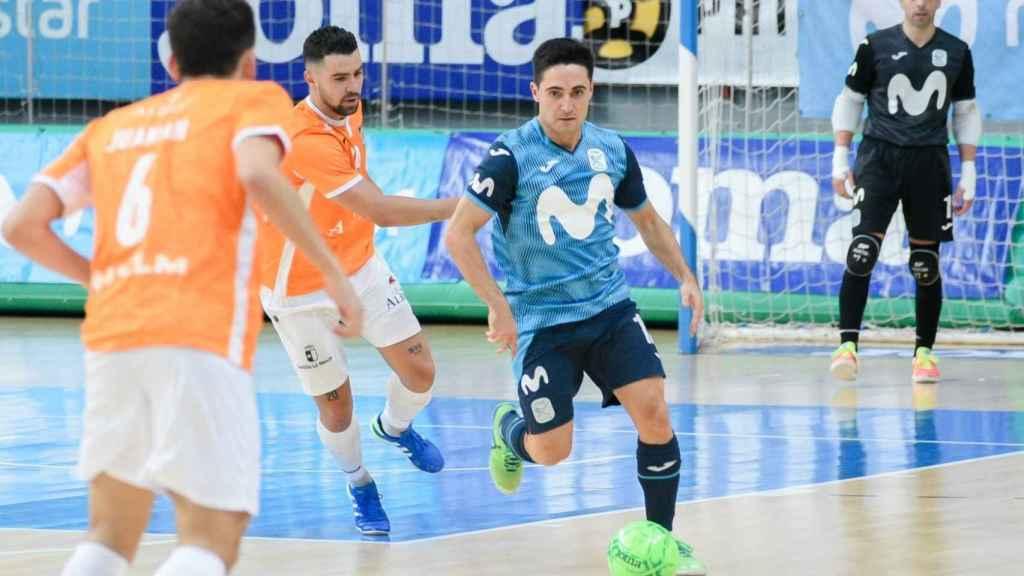 Una imagen del partido amistoso entre el Movistar Inter y el Viña Albali Valdepeñas en la pretemporada 2020/2021
