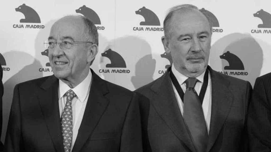 El expresidente de Bankia, Rodrigo Rato, y el exgobernador del Banco de España, Miguel Ángel Fernández Ordóñez.