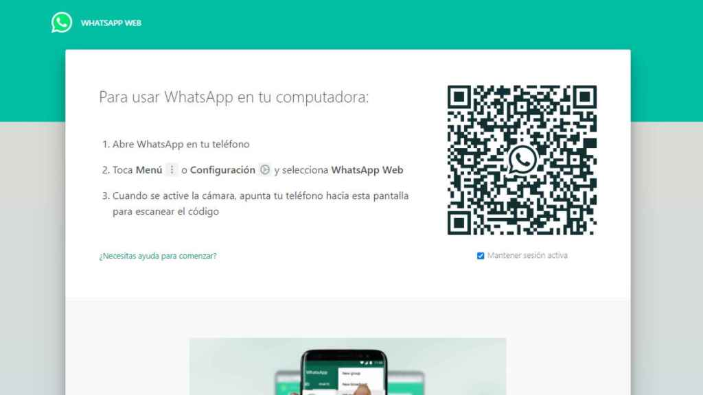Así puedes abrir WhatsApp en el ordenador sin el teléfono