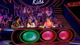 Carlos Jean, Isabel Pantoja y Edurne, en 'Idol Kids' (Telecinco).