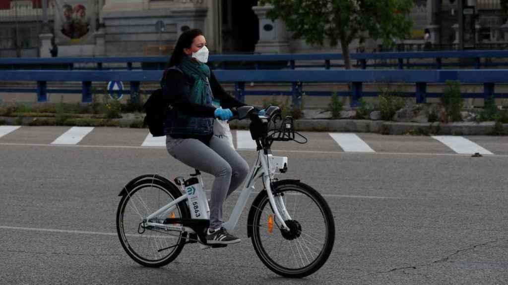 Bicicleta eléctrica por Madrid