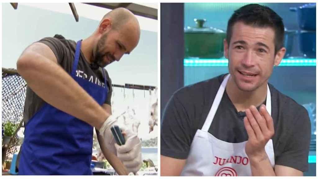Gonzalo y Juanjo en montaje de JALEOS.
