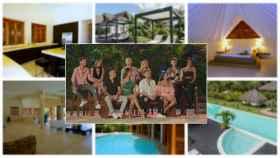 Montaje de JALEOS con los concursantes de 'La isla de las tentaciones' y algunas imágenes de las villas donde se ha grabado el programa.