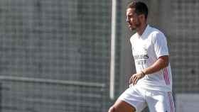 Eden Hazard, con la camiseta del Real Madrid