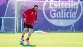 Sergio González durante un entrenamiento del Real Valladolid