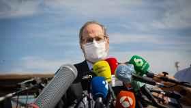 El ya expresidente de la Generalitat Quim Torra este martes en la prisión de Lledoners.