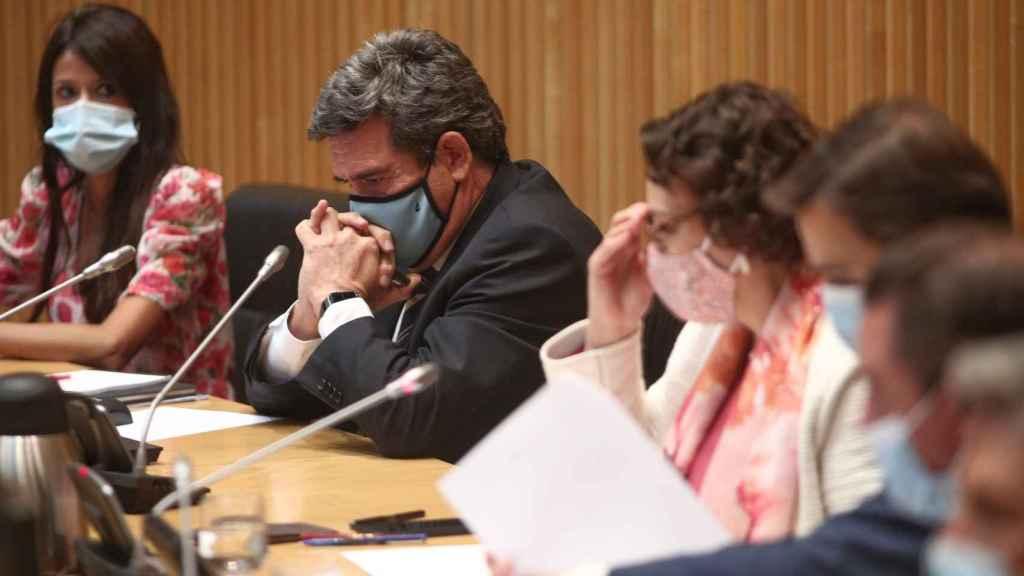 El ministro de Inclusión, Seguridad Social y Migraciones, José Luis Escrivá, durante una reunión del Pacto de Toledo.
