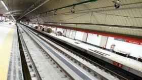Imagen del túnel de Recoletos a su paso por la estación de Nuevos Ministerios.
