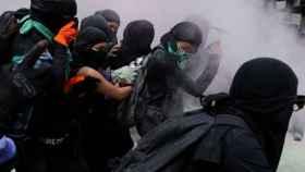 Enfrentamientos en México durante la manifestación contra el aborto.