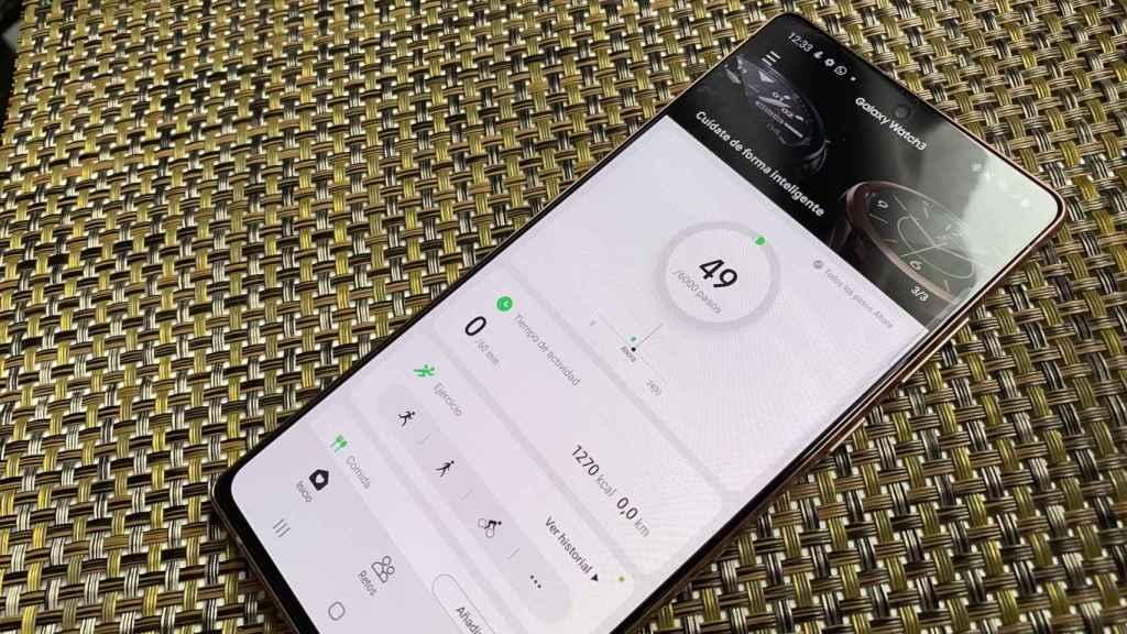 La app de Samsung Health complementa muy bien al Galaxy Watch 3