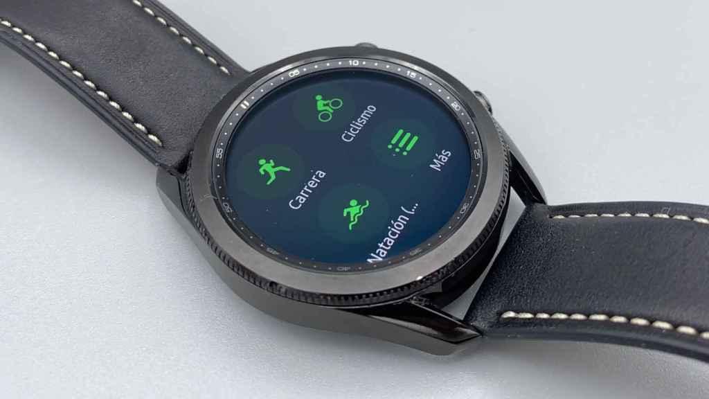 Desde la interfaz del Galaxy Watch 3 es posible iniciar todo tipo de ejercicios